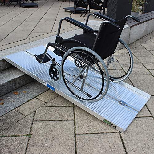 Rollstuhlrampe verschiedene Größen 272 kg klappbar Alu Auffahrrampe Verladerampen Rampe (184cm)