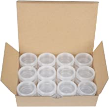 STARSIDE 24 Pack Clear 10 Gram 10g Plastic Pot Jars,Cosmetic Containers for Lotion,Creams,Eye Shadow,Cosmetic Product Samples-BPA Free