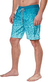 Kirkland Signature Men's Elastic Waistband Mesh Lined Swim Short Trunk