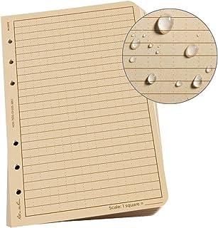"Rite in the Rain Weatherproof Loose Leaf Paper, 4.625"" x 7"", 32# Tan, Universal Pattern, 100 Sheet Pack (No. 982T)"