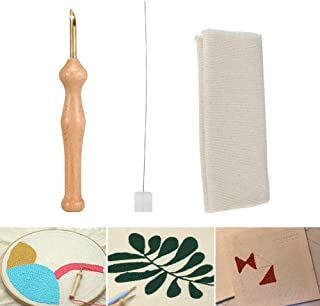 Nicknocks Magic Embroidery Pen Punch Needle Felting Threader Set Wooden Handle Table Cloths Craft Tools DIY Sewing