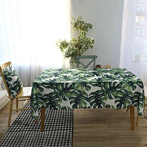 Paracity Nappe Rectangulaire Polyester étanche anti-déversement Nappe pour restaurant de cuisine salle à manger Décoration de fête, Green Summer, 140*200