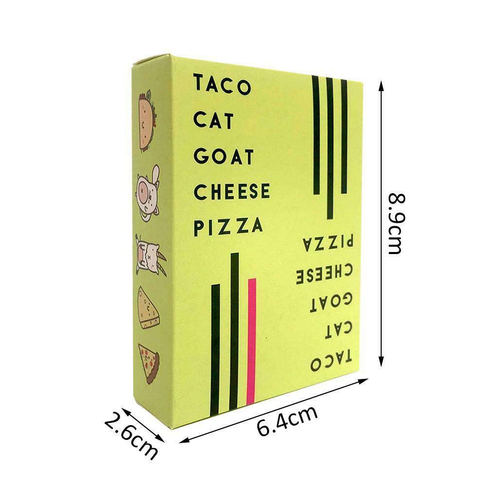 ICVDSRG Taco Cat Goat Cheese Pizza-Juego de Cartas -Buzzed Dungeon Mayhem Secret Hitler, En Inglés: Amazon.es: Hogar