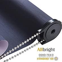 ALLBRIGHT 100%Blackout Manual Roller Shades Waterproof Fabric Roller Shades for Windows, Oeko_TEX Standard 100, 35