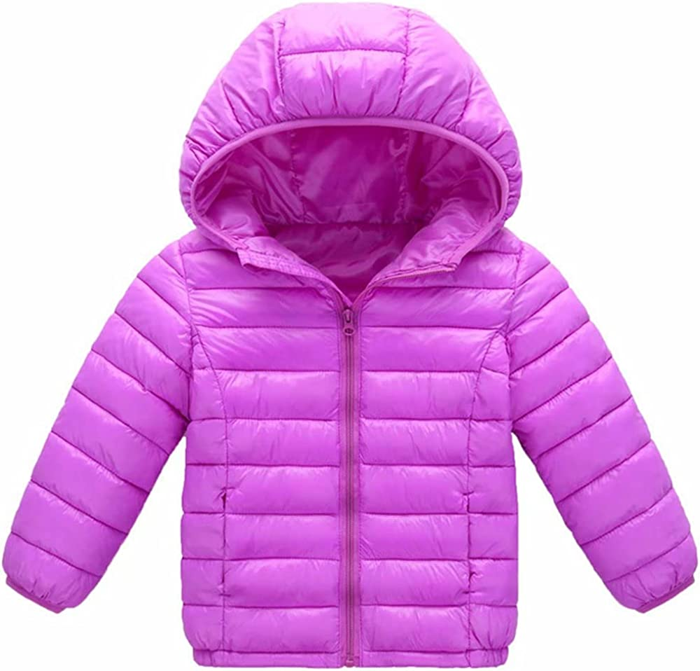 Memphis Mall AOWKULAE Boys Girls Ultra Lightweight Hooded Online limited product Coat Cotton Winter