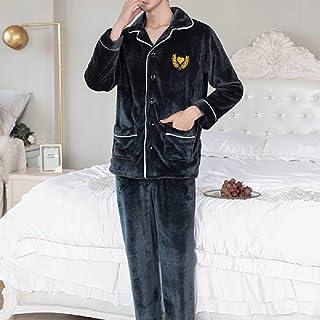 GANNER Invierno Espesar Pijamas Suaves Y Cálidos Hombres Ropa De Dormir De Manga Larga Pijama Pareja Homme Ropa De Dormir ...