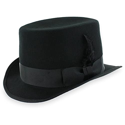 dcf576a380d Belfry Crushable Top Hat Soft Men s 100% Wool Felt in Black