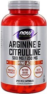 NOW Foods - Arginine 500mg & Citrulline 250mg Amino Acids - 240 Vegetable Capsule(s)