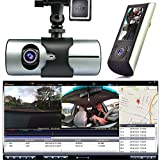 Indigi® HD Car DVR Dual Camera Lens Dash Cam Night Vision GPS Logger