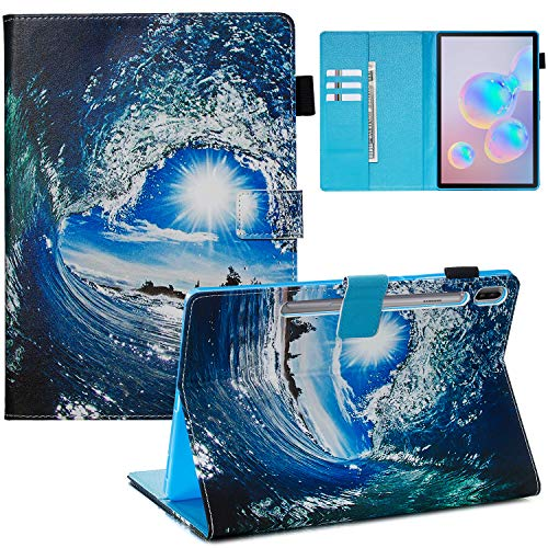 Xifanzi - Funda Ultrafina para Galaxy Tab S5e T720/T725 10.5, Ondas y Sol, Amzon Fire 7 (7') 2015/2017/2019 Version