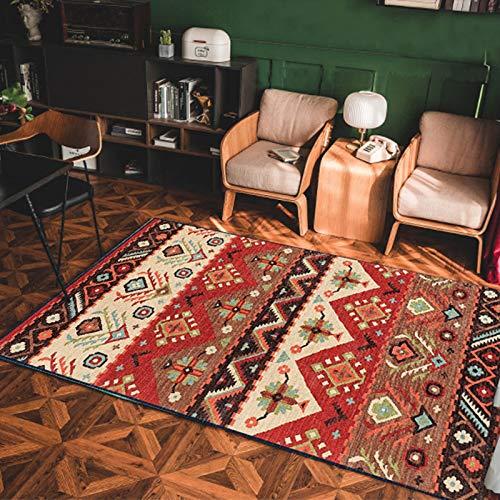 MMHJS Europäische Retro Ethnischen Fußmatten Einfache Mode rutschfeste Feuchtigkeitsbeständige Teppich Wohnzimmer Schlafzimmer Hotel Bed & Breakfast Restaurant Teppich