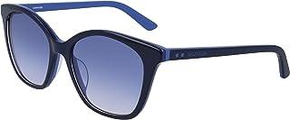 نظارة شمسية للنساء من كالفن كلاين، لون ازرق، 54 ملم CK19505S