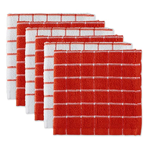 Cotton Checkered Red and White Kitchen Towels