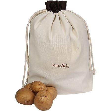 aglio Produktname cipolle 1 patata Set di 3 sacchetti per verdure in lino per conservazione ecc
