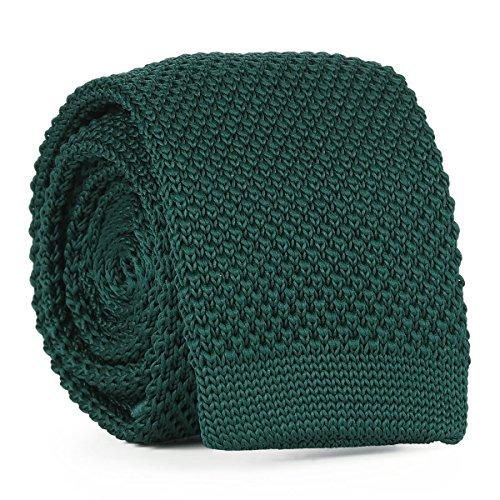 Cravate Tricot Vert foncé - Cravate Maille Tendance