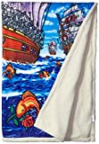 Liquid Blue Men's Grateful Dead Ship of Fools Warm Coral Fleece Throw Blanket, Multi, 50' X 60'