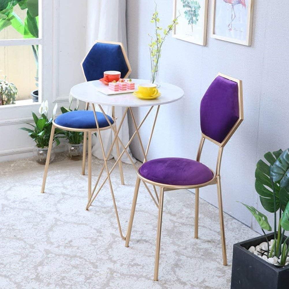 XYQB Chaise créative en métal, Chaise de Salle à Manger Simple à la Maison, Restaurant Haut de Gamme et Meubles d'hôtelXYQB Purple