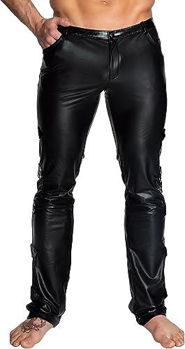 schwarz Handmade Clubwear Lange Herren-Hose aus Wetlook Partykleidung