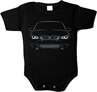 Unbekannt Baby Body inspiriert von M5 E60 Power LED Fan Baby Body Babykleidung Strampler Unterwäsche