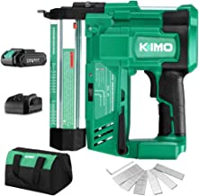 KIMO 20V 18 Gauge Cordless Brad Nailer/Stapler Kit, 2 in 1 Cordless Nail/Staple Gun w/Lithium-Ion Battery&Fast Charger, 18...