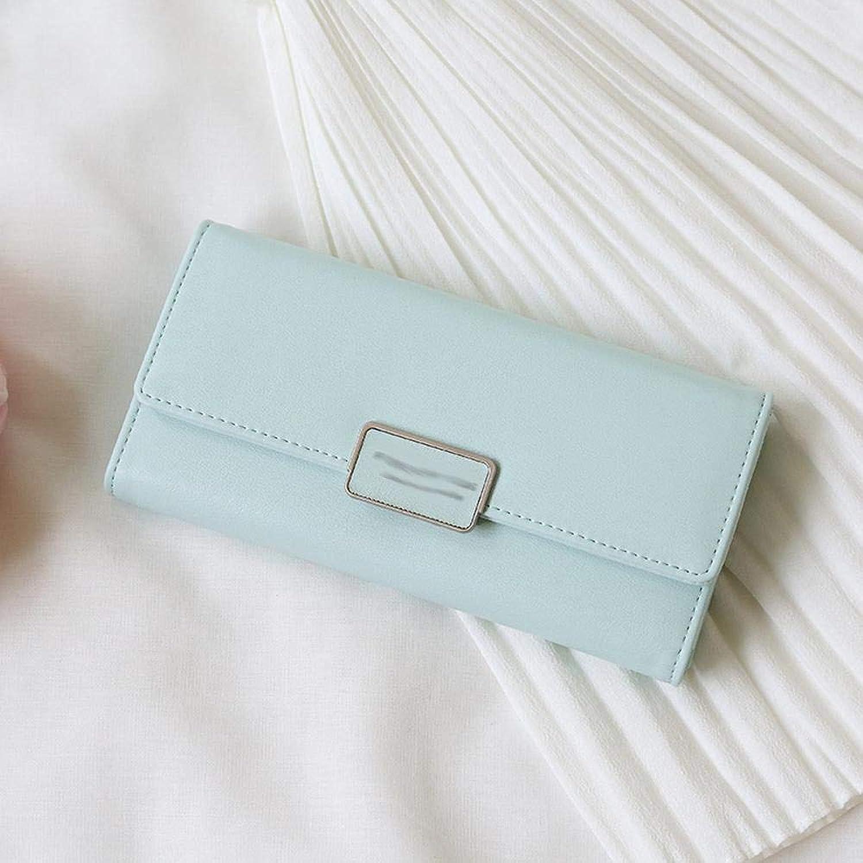 Girls Purse Women's Wallet Women's Purse PU Large Wallet MultiCard Buckle Purse 19  2  9.5cm (color   G)