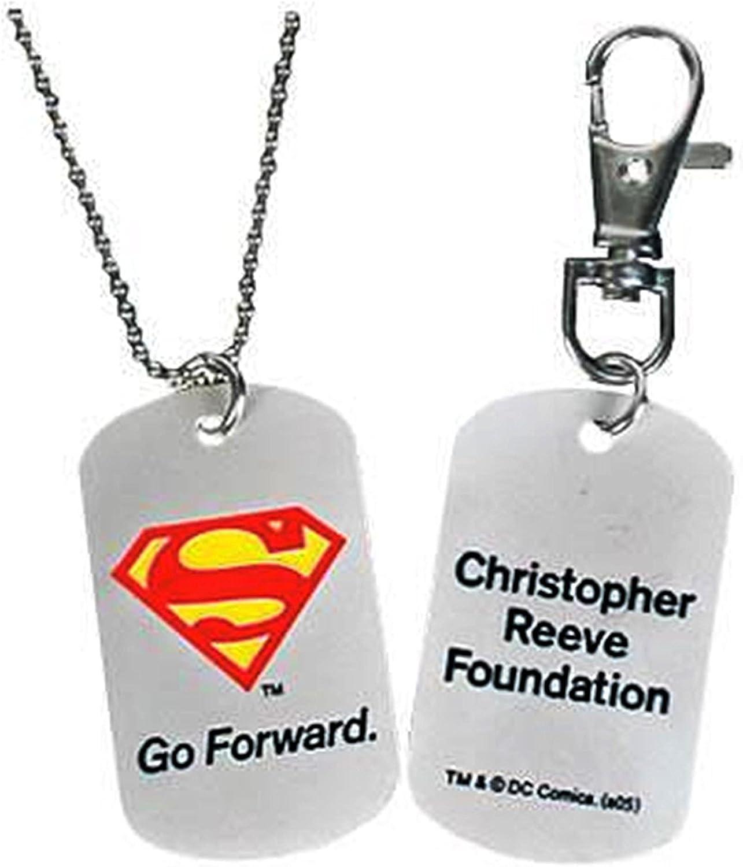 DC Universe Superman Christopher Reeve Foundation Superman Dog Tag Key Chain Combo Bundle