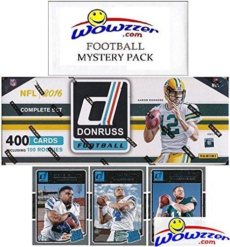 2016 Donruss NFL Football MASSIVE 400 Card Factory Set Loaded with SUPERSTARS & 100 ROOKIES Including Carson Wentz, Dak Prescott & More! Plus Bonus Wowzzer Mystery Pack with AUTOGRAPH or MEMORABILIA