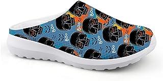 Men's Slippers Mesh Clogs Mules Beach Shoes Skull Black Skull Blue Graphic Trend Sandals Unisex Adult Lazy Shoes Slip On G...