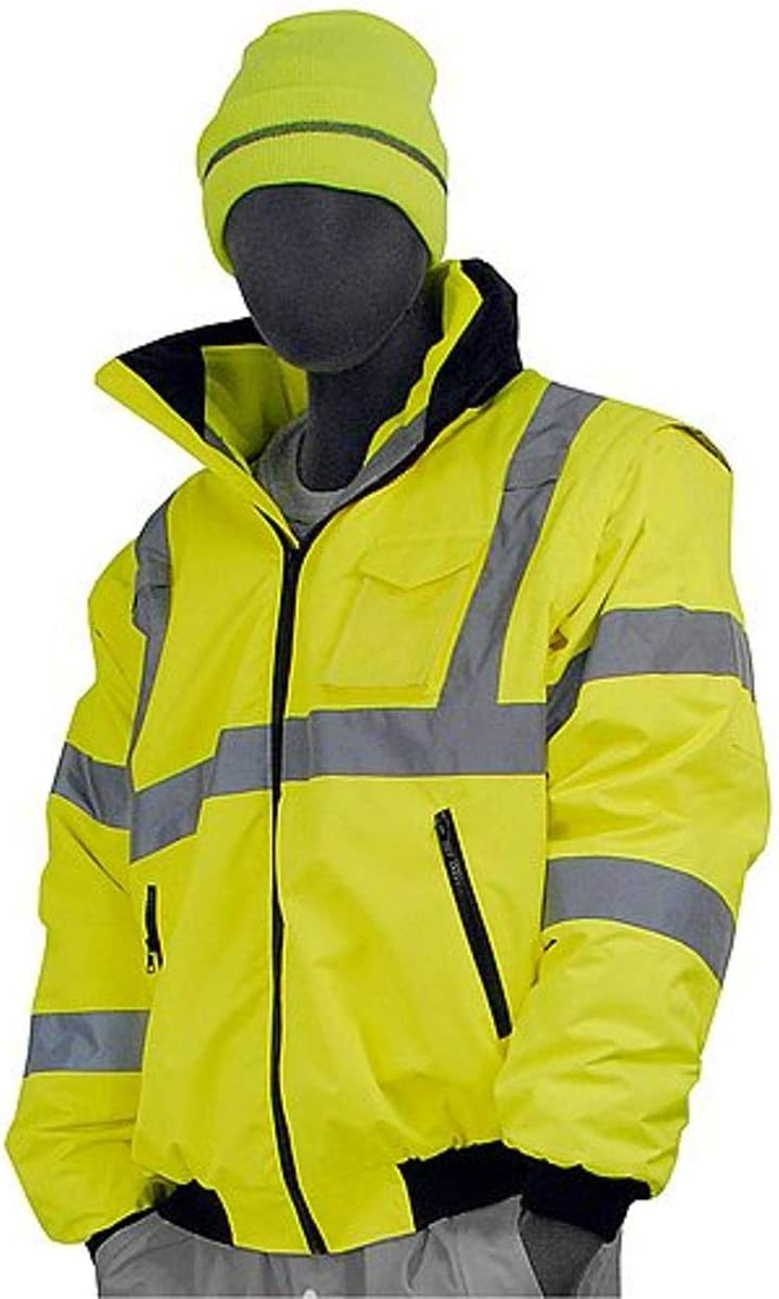 Majestic Glove 75-1381/T1 Bomber Jacket, 8 in 1, High-Vis, Class 3, X-Large/Tall, Yellow