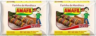 Amafil - White Cassava Flour - 35.2 OZ - 17.64 Oz (PACK OF 2)   Farinha de Mandioca Branca - 500g