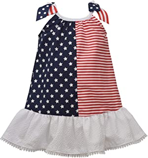 Girl's 4th of July Dress - Patriotic Stars and Stripes Flag Dress