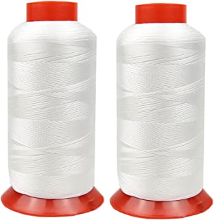 Nylon Thread High Strength Heavy Duty UV Resistant Outdoor Thread (2 White)