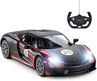 rastar Porsche RC Car, 1:14 Porsche 918 Spyder RC Car   Porsche Toy Car for Kids - Black