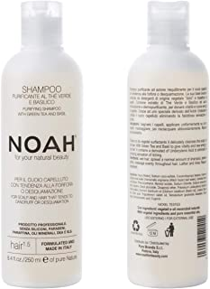 Noah Hair - 1.5 Purifying Shampoo with Green Tea and Basil - Organic Shampoo - With Green Tea Extract and Essential Oils– ...