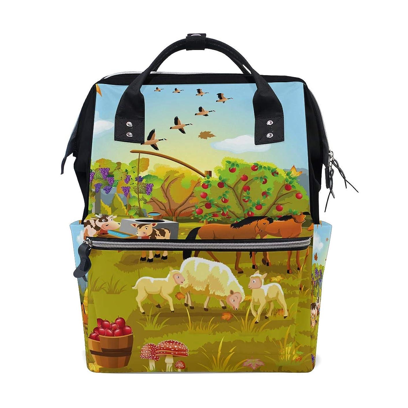 Cartoon Farm Animals Autumn School Backpack Large Capacity Mummy Bags Laptop Handbag Casual Travel Rucksack Satchel For Women Men Adult Teen Children