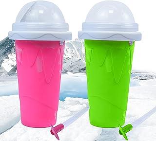 CHAOMIC Slushy Maker Cup Squeeze Cup Slushy Maker Slushy Maker Cup Frozen Magic DIY Homemade Smoothie Cups Travel Portable...