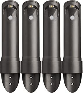 Mr. Beams MB564 Wireless Motion Sensor Activated Compact Led Path Light, 4-Pack, Black Brown
