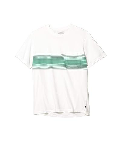 Lucky Brand Sunset Chest Stripe Crew T-Shirt w/ Pocket (Green Stripe) Men