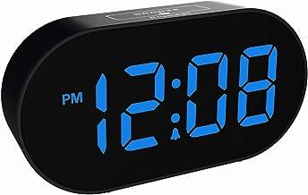 Plumeet [Updated Version] LED Alarm Clock – Digital Clocks with Adjustable..