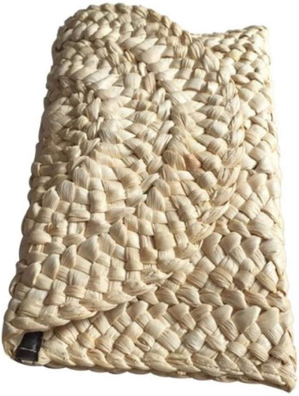 5pcs lot Straw Bag Women Elegant Braided Clutch Handbag Envelope Hasp Beach Bag