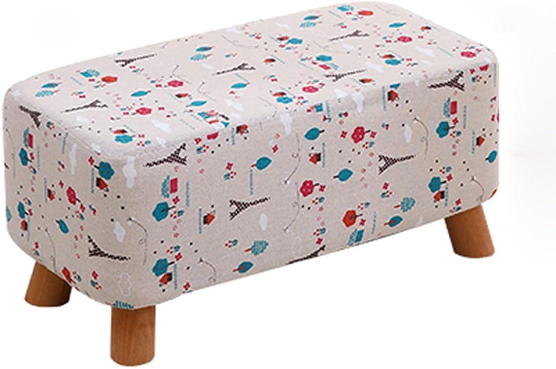 Footstool Wood Creative Cloth Home 60  28.5  28.5cm