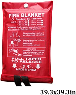 Sucastle Wall Mounted Fire Blanket for Kitchen Fire Guardian Blankets Emergency Flame Retardent Shelter Safety Cover Escape Blanket for Kitchen Camping (Color : White, Size : 39.3x39.3inch)