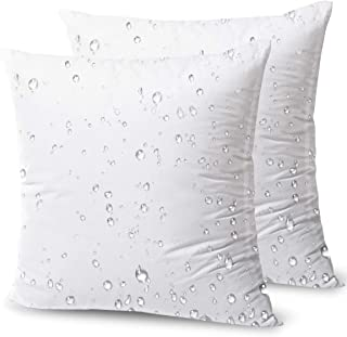 "Phantoscope Throw Pillow Inserts Hypoallergenic Square Form Sham Stuffer 16"" x 16"" (2 Packs) White"