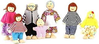 Zerodis Niños Familia Retrato Teatro de Marionetas Muñecas Accesorios Dibujos Animados Marionetas de Dedo Regalo para niños y niñas(7 Set)