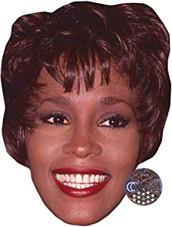 Whitney Houston (Smile) Celebrity Mask, Card Face and Fancy Dress Mask