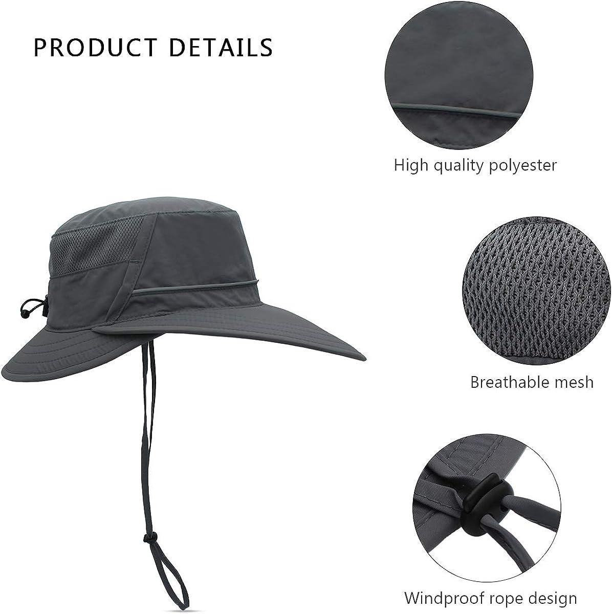 MARCELEN Unisex Cappello da Sole Uomini Donna Cappello da Pescatore Viaggio Protezione Solare Visiera Cappello/Viaggio Cappello da Pescatore Campeggio