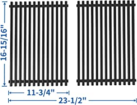 SHINESTAR 17 inch Grill Grates Replacement for Brinkmann Pro Series 2500 2600, 2700 6668, 810-2600, 4425, Nexgrill 720-0825, Porcelain-enameled Steel Cooking Grates Grill Grid(Set of 2, SS-KW004)