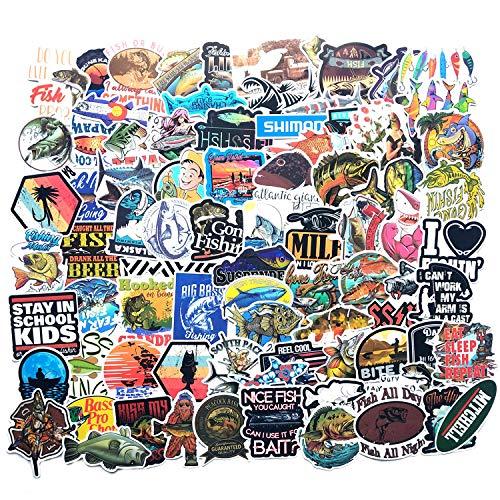 ZNMSB 115 Piezas de Pegatinas de Graffiti de la Serie de Pesca, Estuche de Carro Personalizado, monopatín para Coche, Pegatinas para Nevera