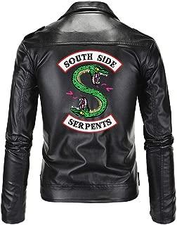 Riverdale Southside Serpents Jacket for Men Faux Leather Track Costume Jacket
