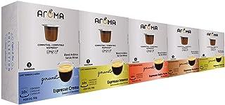 50 Cápsulas Para Nespresso - Kit Degustação Café - Cápsula Aroma